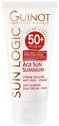 SPF50+ Creme Solaire Visage ANTI-AGE Guinot - Institut Art Of Beauty